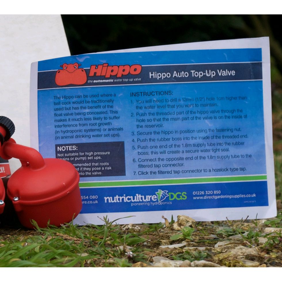 Hippo Automatic Water Top Up Kit » £11 99 - Nutriculture